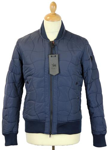 SPIEWAK RETRO MOD QUILTED MA1 NAVY JACKET