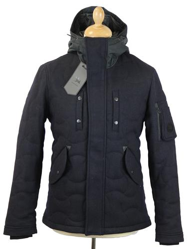 SPIEWAK Retro Mod Melton Quilted Tarmac Jacket