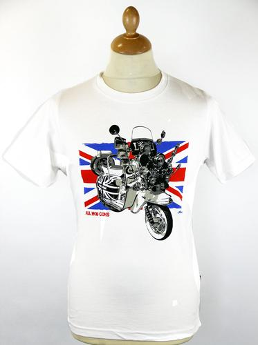 STOMP SCOOTER UNION JACK MOD 60S MOD CONS T-SHIRT