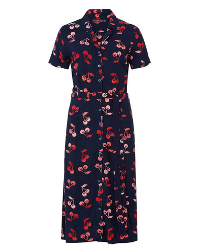 Kendra SUGARHILL BOUTIQUE Retro Cherry Shirt Dress