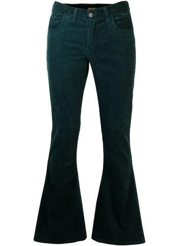 RETRO SEVENTIES INDIE CORD BELLBOTTOM FLARES TEAL