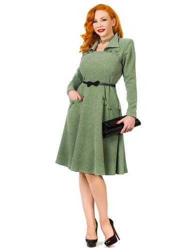 TATYANA RETRO VINTAGE 50s MILITARY DRESS JUDY