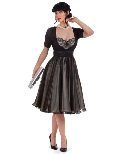 TATYANA RETRO VINTAGE 50s TEMPEST STORM CAFE DRESS