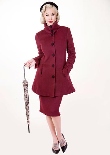 TATYANA RETRO VINTAGE 50s MATCHING COAT AND SKIRT
