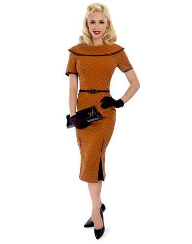 TATYANA RETRO VINTAGE 50s ICE COFFEE VINTAGE DRESS