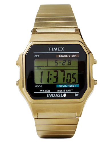 Timex 80 digital watch gold