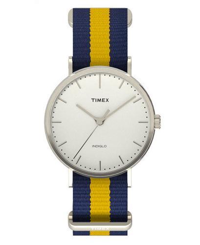 Weekender TIMEX Retro Mod Stripe Slip Thru Watch