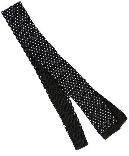 tootal retro 1960s mod micro dash knit tie black