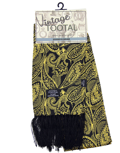 tootal floral paisley scarf gold
