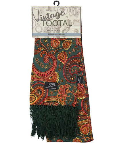 tootal floral paisley scarf autumnal gold
