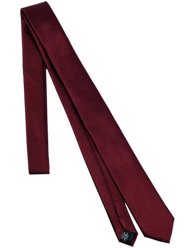 tootal retro 1960s mod plain silk tie burgundy