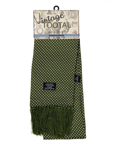 tootal polka dot scarf green
