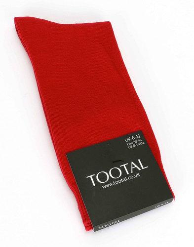 tootal socks mens retro mod socks red