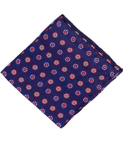 TOOTAL SCARF RETRO YORKSHIRE ROSE POCKET SQUARE