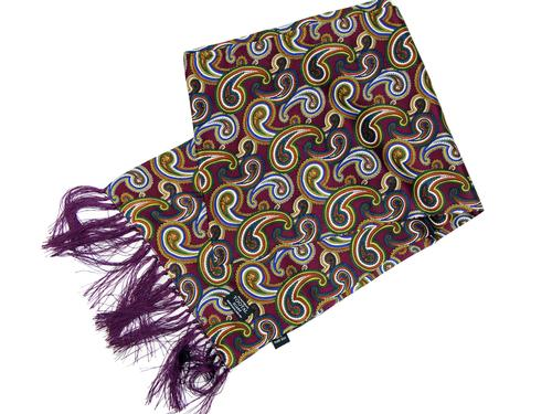 Large Wine Paisley TOOTAL Mod Silk Scarf TL7905