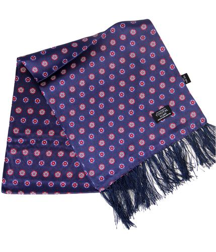 TOOTAL SCARF RETRO MOD YORKSHIRE ROSES SCARF