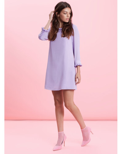 Traffic People Retro 60s shift dress lilac