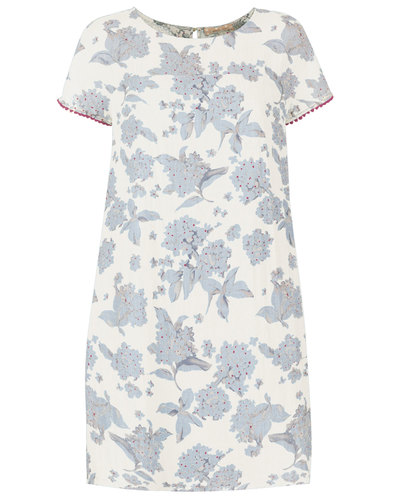Traffic People Retro 60s floaral shift dress