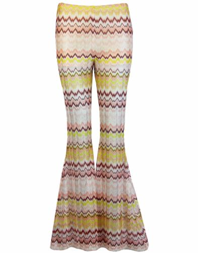 TRAFFIC PEOPLE Womens Zig-Zag Retro 70s Flares