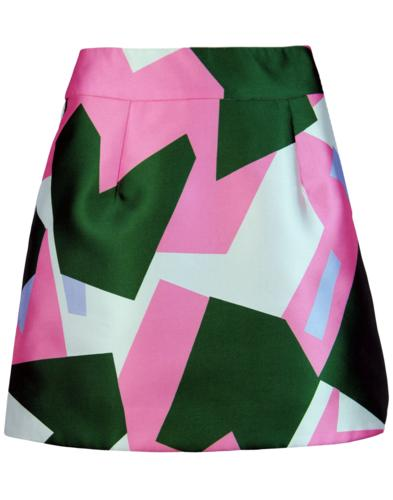 traffic people retro 1960s mod abstract mini skirt