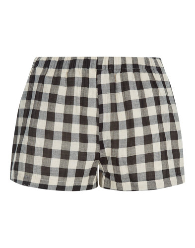 TRAFFIC PEOPLE Retro Gingham Check Beach Shorts