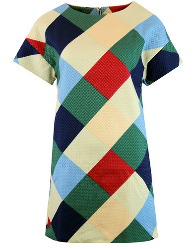 traffic people hind 60s mod textured argyle dres