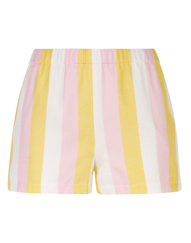 TRAFFIC PEOPLE Retro 70s Candy Stripe Beach Shorts