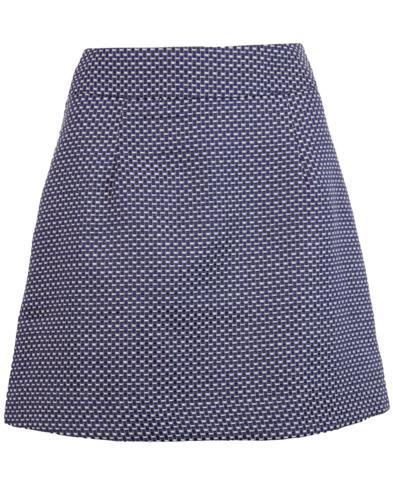 TRAFFIC PEOPLE Retro 60s Mod Weave Mini Skirt