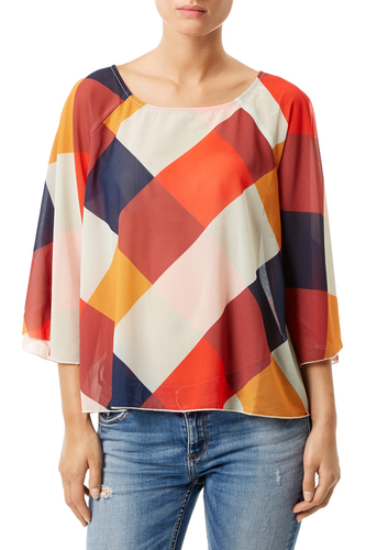 Traffic People Retro 70s Whimsical top