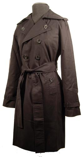 ORIGINAL PENGUIN RETRO MOD SIXTIES TRENCH COAT MOD