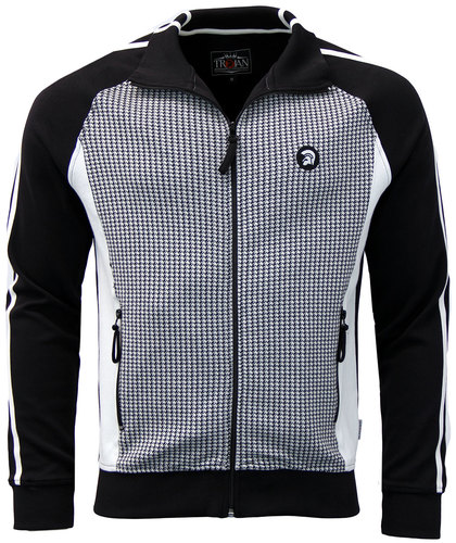 trojan records retro 70s mod dogtooth track jacket