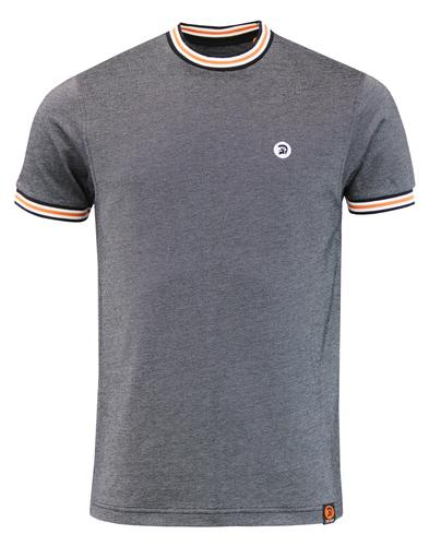 TROJAN RECORDS Retro Tipped Oxford Pique T-Shirt