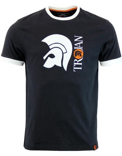 trojan records helmet logo tee Black
