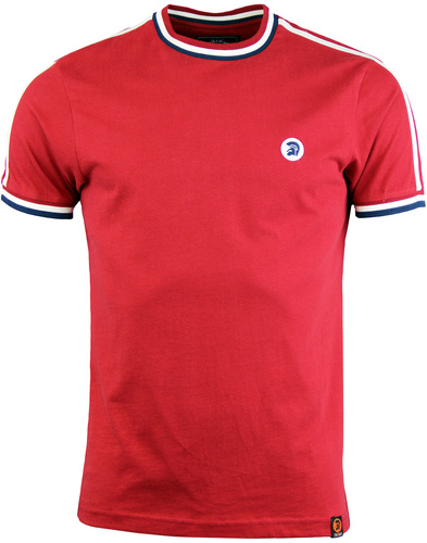 Trojan records twin stripe tee blood