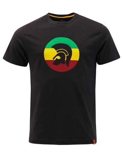 TROJAN RECORDS Men's Mod Ska Jamaica Logo T-Shirt