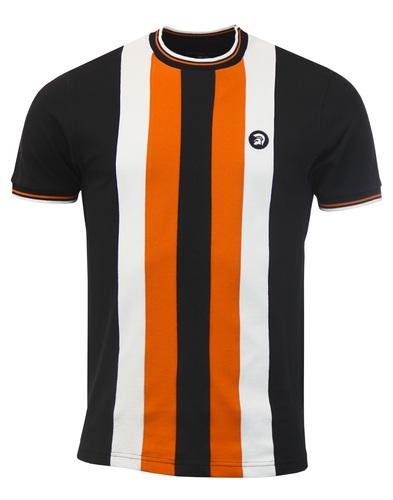 trojan t-shirt- black striped mod