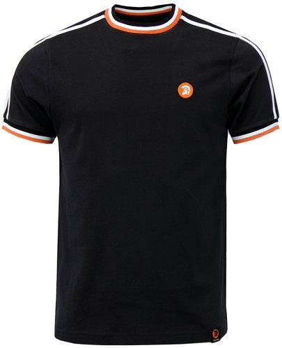 trojan records retro mod twin stripe t-shirt black