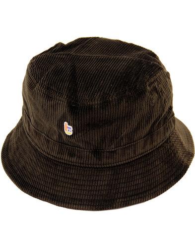 tuktuk retro indie mod cord logo bucket hat