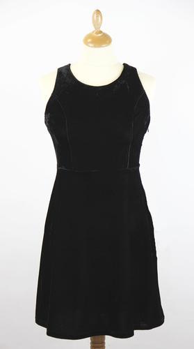 TULLE Retro Criss Cross Back Mid Thigh Dress (Bl)