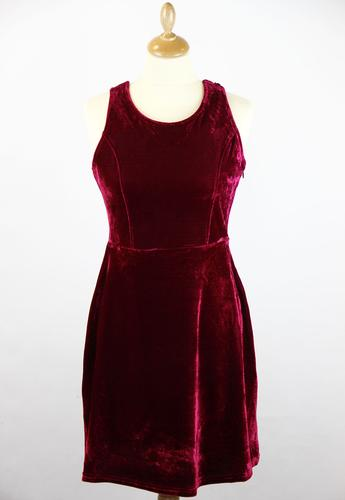 TULLE RETRO VINTAGE VELVET PARTY DRESS 1950s