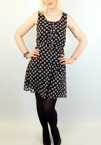 TULLE Retro Vintage inspired Cascading Dress