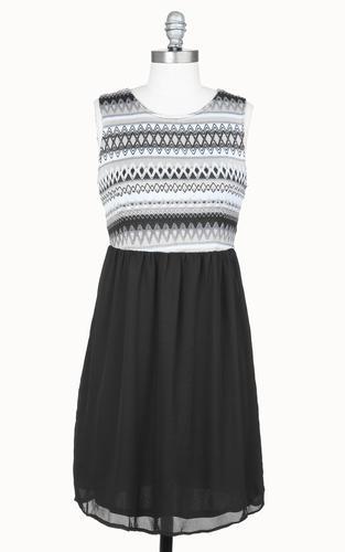 TULLE Retro Vintage 70s inspired Chiffon Dress