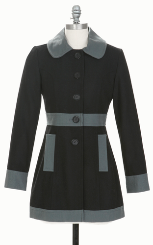 TULLE WOMENS RETRO 60S MOD COAT PEYTON