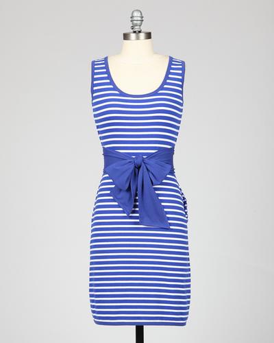 Sailor's Sweetheart TULLE Nautical Stripe Dress
