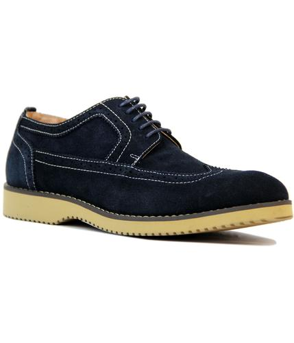 Turnmill PETER WERTH Retro Mod Navy Suede Brogues