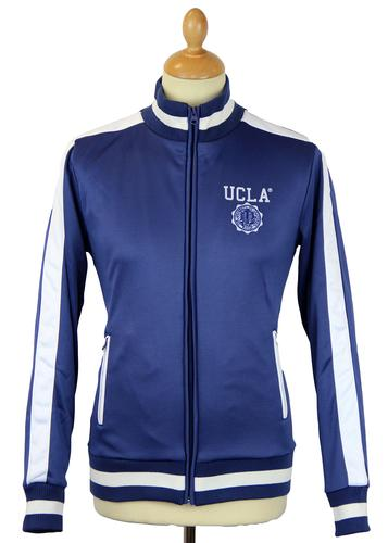 Bowmont UCLA Retro 70s Funnel Neck Track Jacket TB