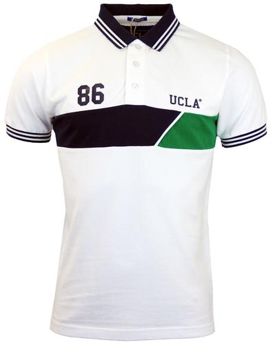 Emanual UCLA Retro 70s Collegiate Cut & Sew Polo