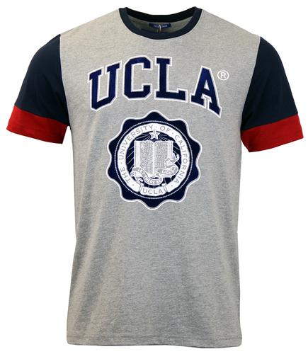 UCLA Asner Retro 70s Flock Collegiate Logo T-shirt