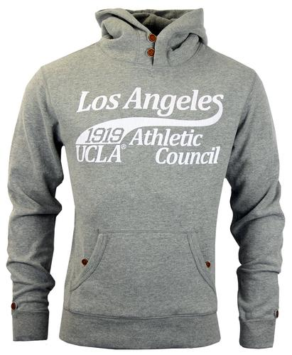 UCLA Retro 70s Indie Funnel Neck Hooded Sweatshirt