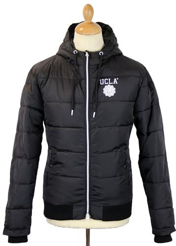 Spalding UCLA Retro 70s Hooded Puffer Jacket (B)